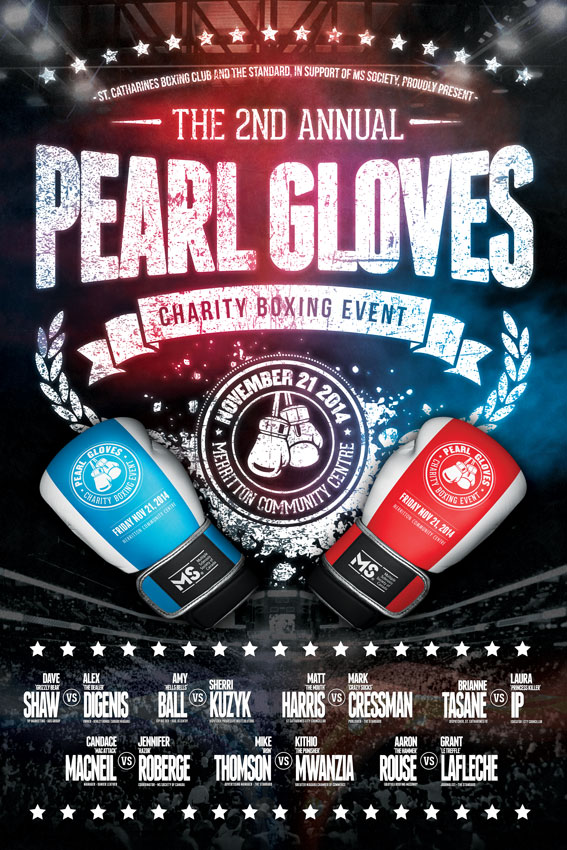 2014 Pearl Gloves Fight Poster